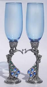 wedding goblets peacock wedding glasses
