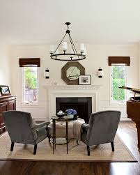 Living Room Wainscoting White Wainscoting With Wood Trim Living Room Traditional With