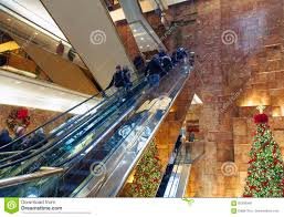 Trump Tower Inside Escalator Inside Trump Tower In Nyc Editorial Stock Photo Image
