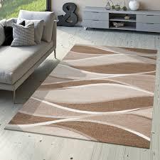 Teppich Schlafzimmer Beige Designer Teppich Toledo Modern Meliert Streifen Mit Beige Töne