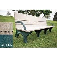 memorial park bench with color inlay the bench factory 864 50