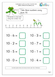 with a number line 4