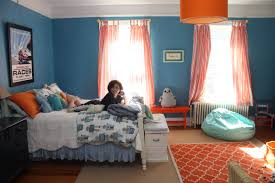 Light Blue Room by Bedroom Gorgeous Baby Blue And Orange Bedroom Decoration Using