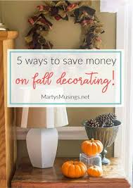 5 ways to save money on fall decorating