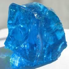 natural slag light blue colored glass landscaping rock for home