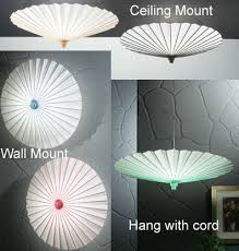 Umbrella Ceiling Light Parasol Lamp Shades Hanging Ceiling And Wall Mount