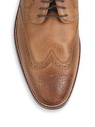 Lenox Tan by Cole Haan Lenox Hill Wingtip Derby Shoes In Brown For Men Lyst