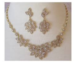 swarovski crystal necklace sets images Swarovski crystal necklace and earrings bridal set vintage style jpg