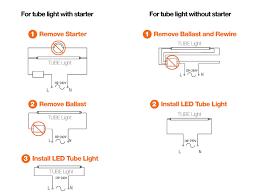 rewire fluorescent light for led ac direct led t8 gen lighting ltd