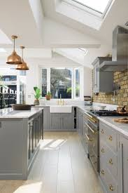 light gray stained kitchen cabinets victorian green marble and brass kitchen design countertops