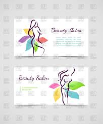 beauty salon business card template contour of woman surrounded