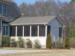 Patio Half Wall Graceful Screened Porch With Screened Back Porch Diy Together With