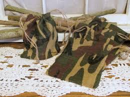 burlap wedding favor bags camo burlap favor bag burlap bag camouflage wedding favors