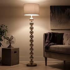 mercury glass ball lights stacked ball floor l mercury glass includes cfl bulb