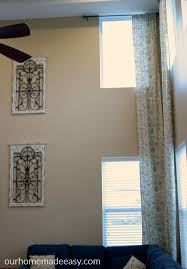 Sewing Drapery Panels Together Easy Diy Two Story Curtain Panels In Only 5 Steps U2022 Our Home Made