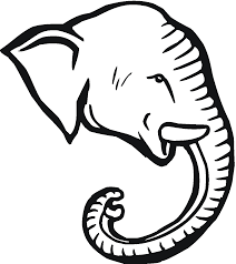 elephant trunk clipart black and white clipartxtras