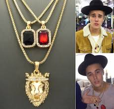 hip necklace chain images New mens rick ross style cz diamand faux lab red pendant necklace jpg