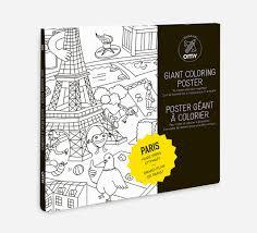 giant coloring poster paris