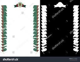 Flag Of Turkmenistan Frame Border Flag Coat Arms Turkmenistan Stock Illustration