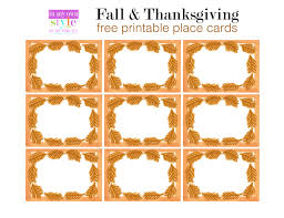 printable placecards 10 minute decorating thanksgiving place cards in my own style
