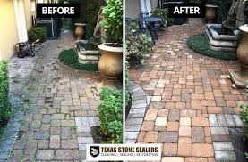 Cleaning Concrete Patio Mold Before U0026 After Pictures Texas Stone Sealers Project Gallery