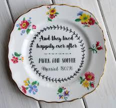 keepsake plate personalised vintage china tea wedding keepsake plate by ollie and