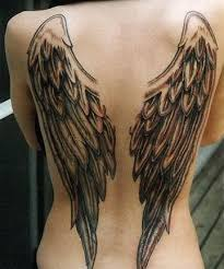 grey ink wings on back