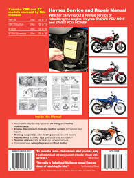yamaha ybr125 05 16 u0026 xt125r x 05 09 haynes repair manual