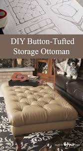 Diy Tufted Storage Ottoman Diy Button Tufted Storage Ottoman Made By Barb Build You Own
