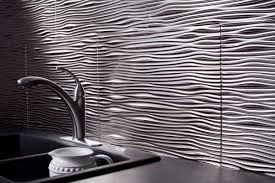 fasade kitchen backsplash panels fasade backsplash panel waves in argent silver new kitchen