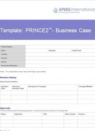 prince2 business case template apmg business books
