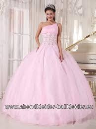 rosa brautkleid one shoulder abendkleid sissi ballkleid brautkleid in rosa
