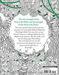 jungle book coloring book rudyard kipling 9781626867024
