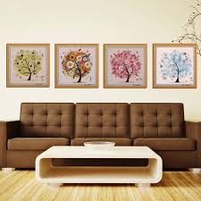 Chinese Home Decor Aliexpress Com Buy Chinese Cross Stitch Embroidery Four Seasons
