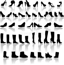 womens boots types types of shoes stock vector illustration of design 33940098