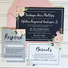wedding invitations navy hadley designs featured invitations