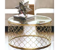 gold metal side table gold metal side table drum gold coffee table with marble top metal