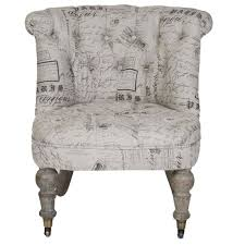 Slipper Chair French Script Slipper Chair A Cottage In The City