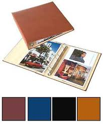 binder photo album bonded leather 8 5 x 11 3 ring photo album binder