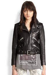 leather motorcycle jacket brands the kooples leather motorcycle jacket in black lyst