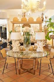 acrylic and brass dining table mecox gardens