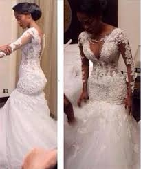 mermaid style wedding dress africa 2016 lace wedding dresses mermaid style