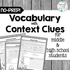 use the context context clues get the meaning from essential