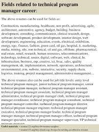 Program Management Resume Sample by Top 8 Technical Program Manager Resume Samples