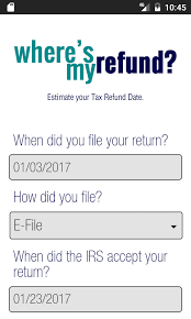 Estimate State Tax Refund by Where S My Tax Refund Status Android Apps On Play