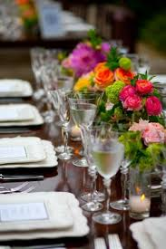 Mismatched Vases Wedding Canadian American Wedding In Malibu California Inside Weddings