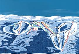 Virginia Mountains Map by Wintergreen Ski Resort Skimap Org