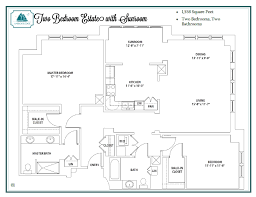 Sunroom Floor Plans by Floor Plans Of Harbor U0027s Edge Assisted Living Home