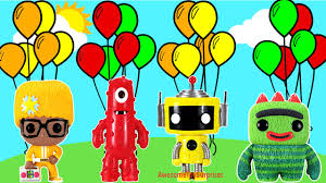 yo gabba gabba learn colors coloring page fun coloring activity