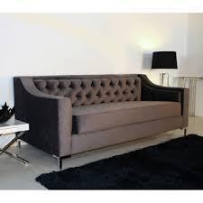 6 foot sofa taglia cosmic velvet grey custom tufted 6 foot loveseat pintowin o
